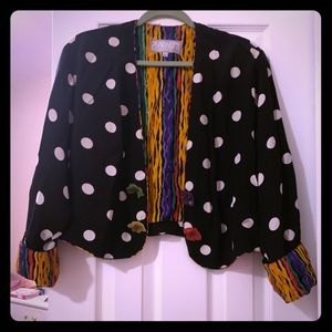 Vintage Jacket with fun patterns and buttons